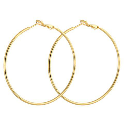 Store Pair of Round Earrings GOLDEN