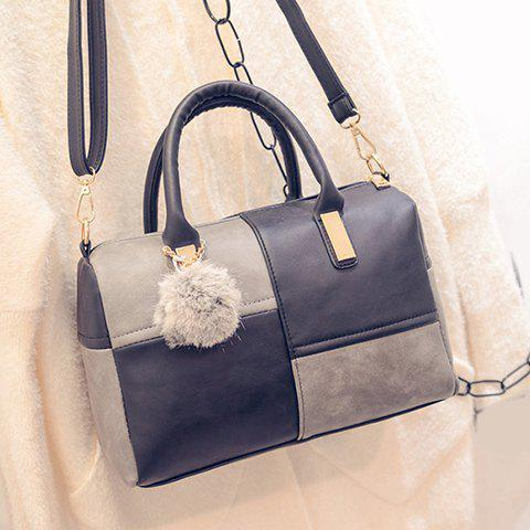 Store Trendy Metal and Colour Block Design Women's Tote Bag - BLACK AND GREY  Mobile