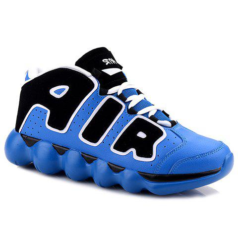 New Personalized Letters and Lace-Up Design Men's Sneakers