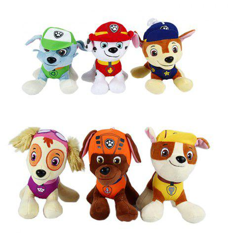 New 6Pcs 7 inch Characteristic Plush Toy Decoration Gift with Suction Cup