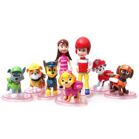 Affordable Animation Character Toy Model for Children 8Pcs / Set