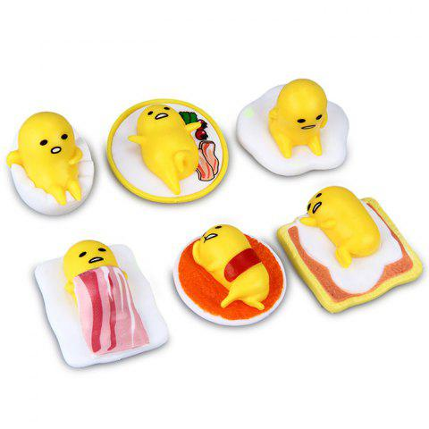 6Pcs Gudetama Action Figure Toy