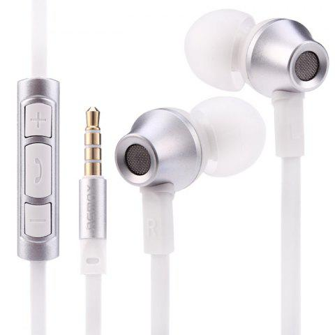 SILVER Original REMAX RM 610 In ear Stereo Earphones