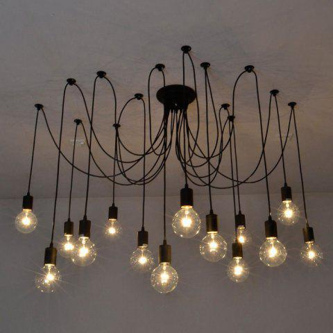 E27 Socket Edison Retro Style Pendant Lamp Holder Noir 14 X E27 SUPPORT DE LAMPE