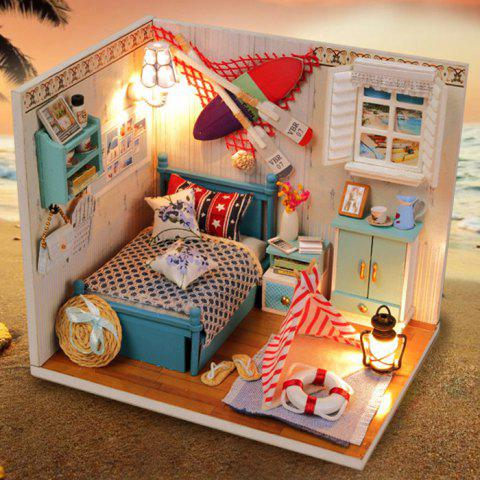 Affordable Creative DIY Wooden Miniature Doll House Furniture Toy Handmade Room Model Practical Birthday Gift - SIZE 2 AS THE PICTURE Mobile