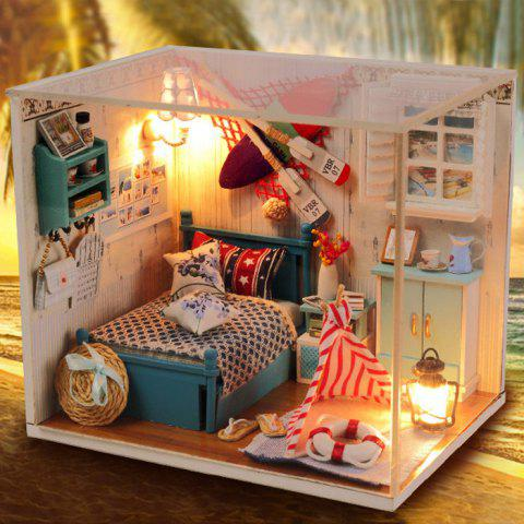 Shops Creative DIY Wooden Miniature Doll House Furniture Toy Handmade Room Model Practical Birthday Gift - SIZE 2 AS THE PICTURE Mobile