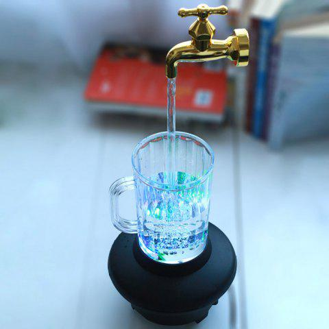Fashion Novelty Magic Fountain Faucet Impending Tap with Flashing LED Light GOLDEN FAUCET STYLE