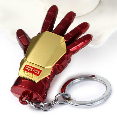 Portable The Avengers-Iron Man Glove Style Metal Key Chain Cool Props - GOLD/RED