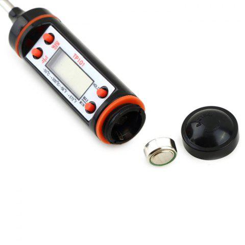 Shop Digital Probe Cooking Thermometer Meat BBQ Steak Food Kitchen Temperature Tester - BLACK  Mobile