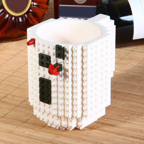 Hot DIY Creative Building Blocks Style Build-On Brick Mug Tea Cup WHITE