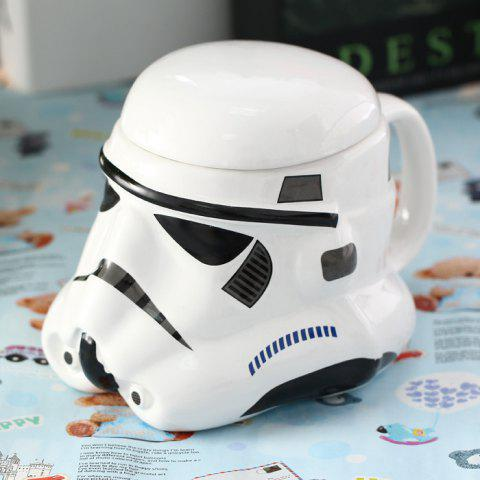 Chic Stomtrooper Style Helmet Cup with Cover for Daily Use