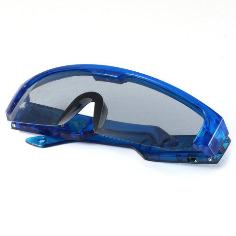 Latest 5 Light Cool DJ Style Flashing LED Glasses for Christmas Party Decorations - BLUE  Mobile