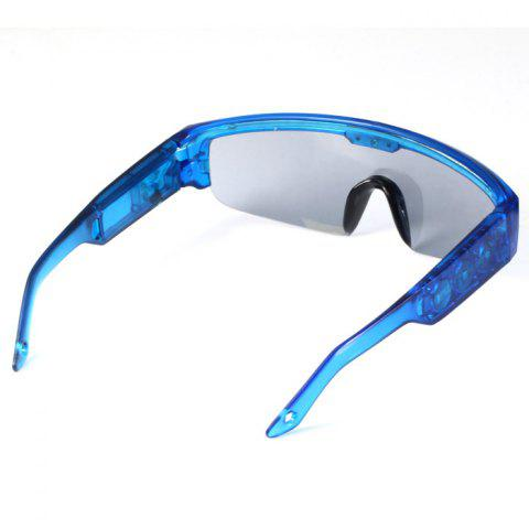 Chic 5 Light Cool DJ Style Flashing LED Glasses for Christmas Party Decorations - BLUE  Mobile