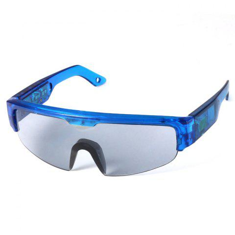 Sale 5 Light Cool DJ Style Flashing LED Glasses for Christmas Party Decorations - BLUE  Mobile