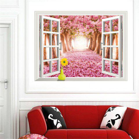 Latest Beautiful 3D Cherry Tree Style Removable PVC Wall Stickers Colorful Room Window Decoration
