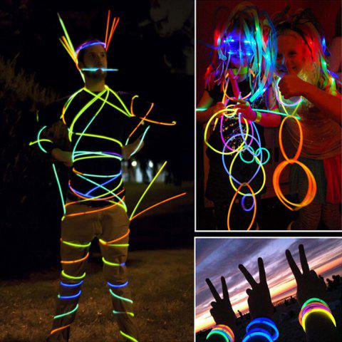 Cheap 100PCS DIY LED Flashing Glowstick Luminous Light Stick Bracelet for Christmas Party Games