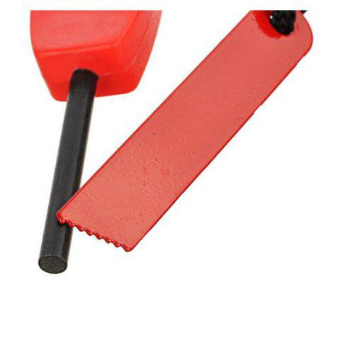 Chic 2pcs Outdoor Survival Tool Multifunctional Fire Starter with Scraper - RED  Mobile