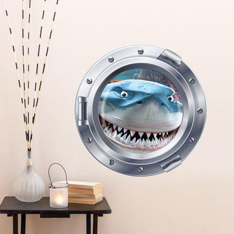 New Cute Shark Pattern Submarine Shape Removeable 3D Fridge Wall Sticker Home Decoration - COLORMIX  Mobile