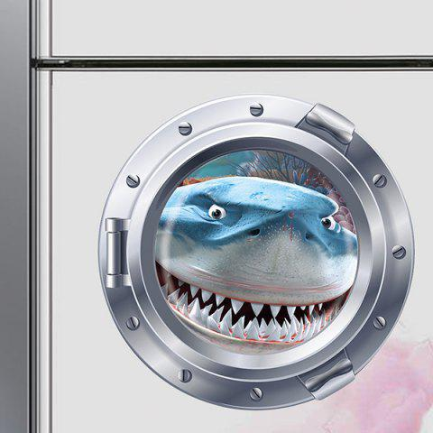 Outfit Cute Shark Pattern Submarine Shape Removeable 3D Fridge Wall Sticker Home Decoration - COLORMIX  Mobile