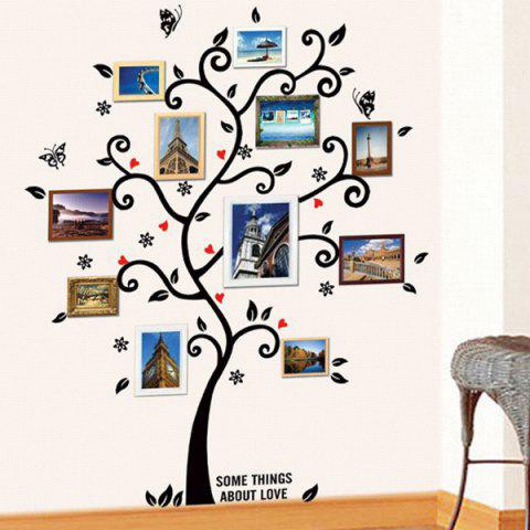 New Tree Pattern Removeable Decals Photo Frame Wall Sticker - BLACK  Mobile