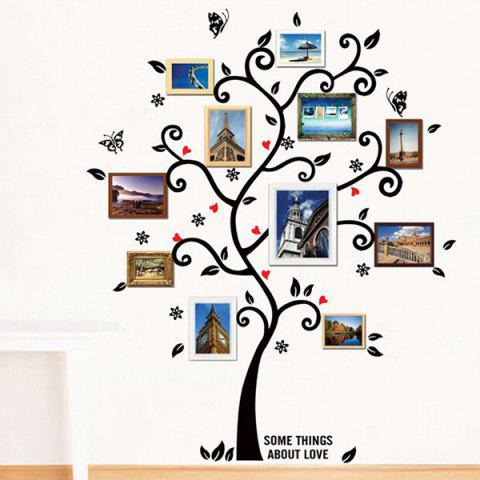 Outfit Tree Pattern Removeable Decals Photo Frame Wall Sticker BLACK