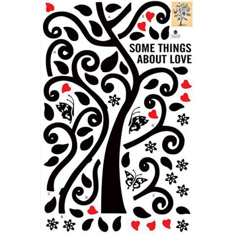 Trendy Tree Pattern Removeable Decals Photo Frame Wall Sticker - BLACK  Mobile