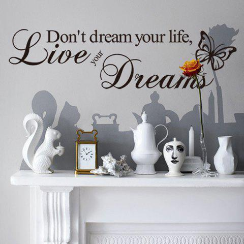 New Sweet English Proverb Pattern Removeable Waterproof Decorative Wall Sticker