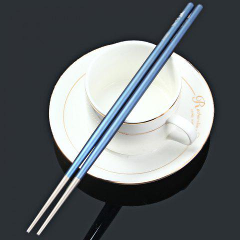 Fancy Keith Ti5631 Blue Titanium Alloy Chopsticks with Round Shape