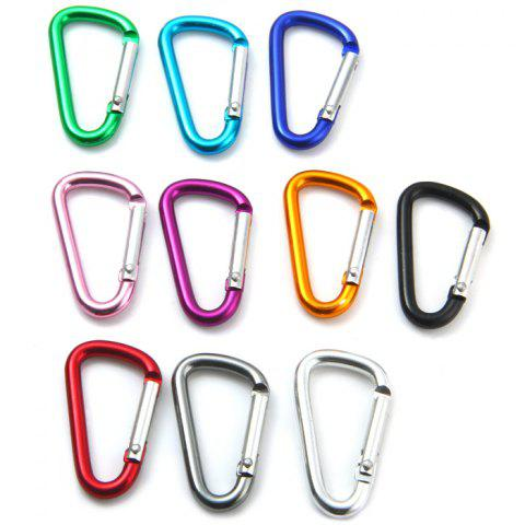 Shops D-shaped Aluminum Alloy Carabiner with Anti-rusted Function - 2PCS RANDOM COLOR Mobile