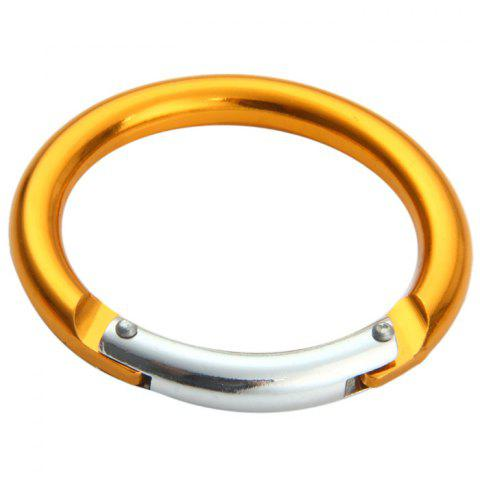 Trendy Round-shaped Carabiner Aluminum Alloy Made - 2PCS RANDOM COLOR Mobile