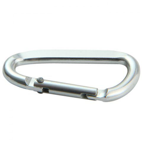 Buy D Shaped Oblate Carabiner Hanging Buckle - 2PCS SILVER Mobile