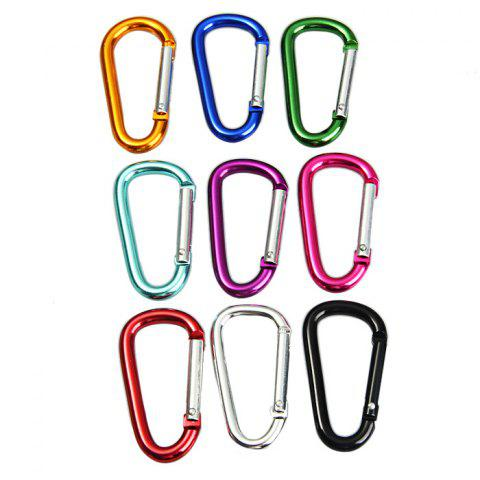 Discount 6D D-shaped Aluminum Alloy Carabiner - 10PCS RANDOM COLOR Mobile