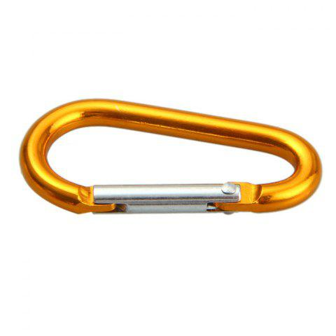 Store 6D D-shaped Aluminum Alloy Carabiner - 10PCS RANDOM COLOR Mobile