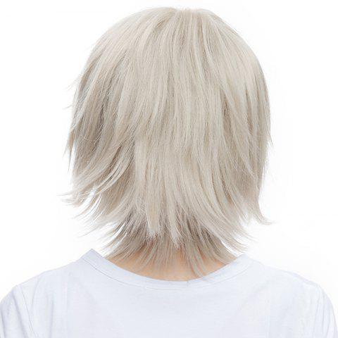 Best Outstanding Fluffy Straight Vogue Short Haircut Synthetic Miketsukami Soushi Cosplay Wig - SILVER GRAY  Mobile