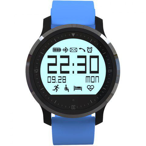 F68 Bluetooth 4.0 Smart Sports Watch with Heart Rate Function - BLUE