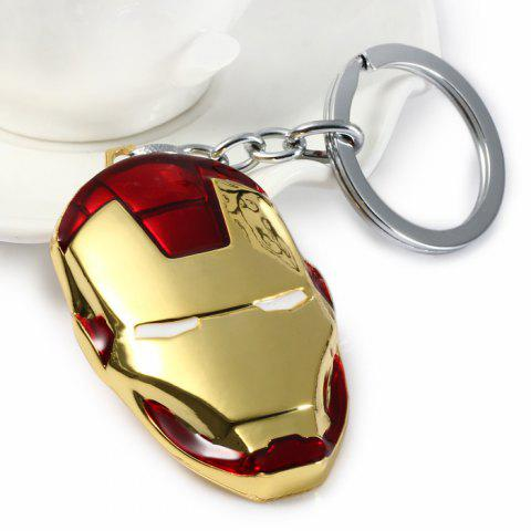 Shop Portable The Avengers-Iron Man Style Metal Key Chain Cool Props - GOLD  Mobile