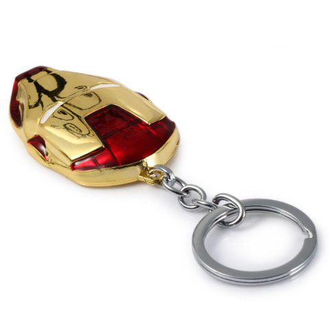 Latest Portable The Avengers-Iron Man Style Metal Key Chain Cool Props - GOLD  Mobile