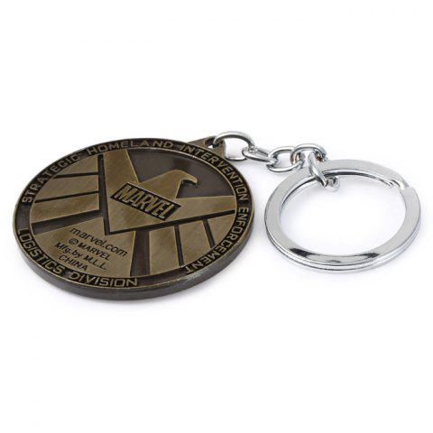 Online Portable The Avengers-SHIELD Sign Metal Bulk Key Chain - GUN METAL  Mobile
