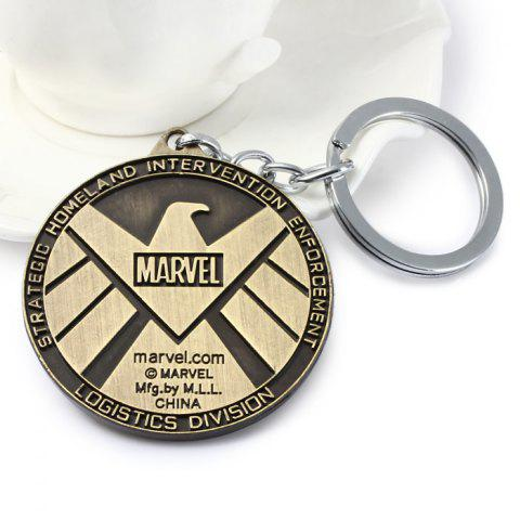 Outfit Portable The Avengers-SHIELD Sign Metal Bulk Key Chain - GUN METAL  Mobile