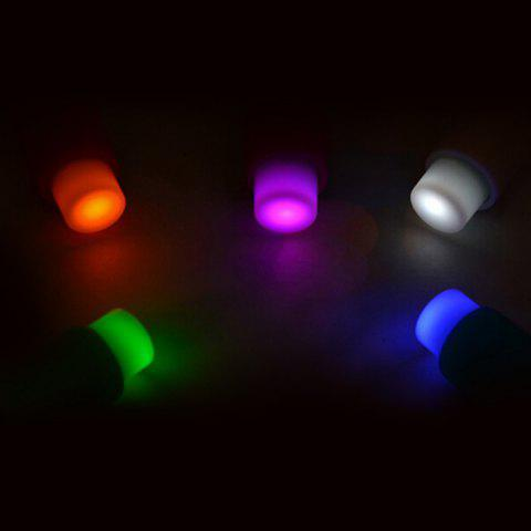 Cheap 5PCS Small Push Pin Light Multi-functional Colorful LED Sucker for Bulletin Board Refrigerator - RANDOM COLOR  Mobile