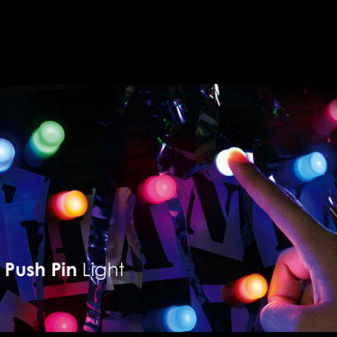 Unique 5PCS Small Push Pin Light Multi-functional Colorful LED Sucker for Bulletin Board Refrigerator - RANDOM COLOR  Mobile