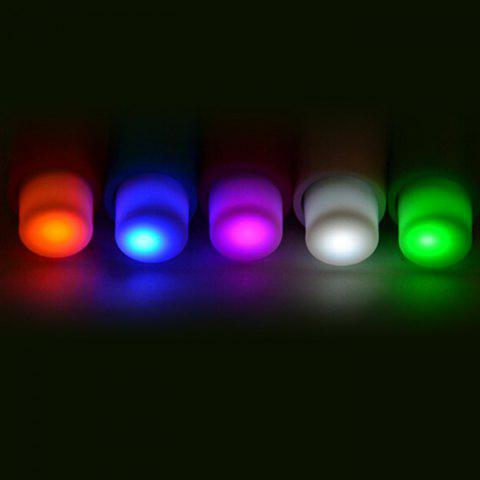 Sale 5PCS Small Push Pin Light Multi-functional Colorful LED Sucker for Bulletin Board Refrigerator - RANDOM COLOR  Mobile