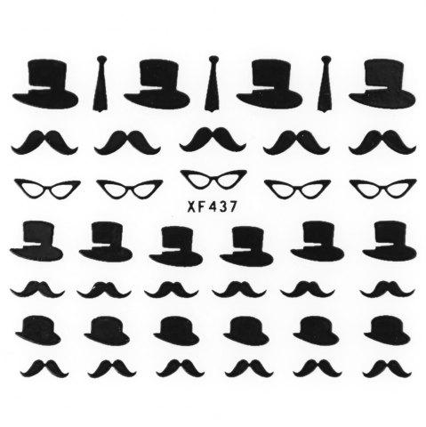 Store Stylish Ladies Women 3D Art Stickers Nail Stick Manicure Water Decal - XF437  Mobile