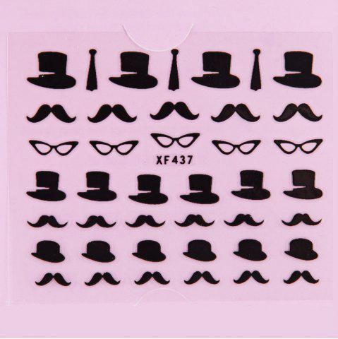 Hot Stylish Ladies Women 3D Art Stickers Nail Stick Manicure Water Decal - XF437  Mobile