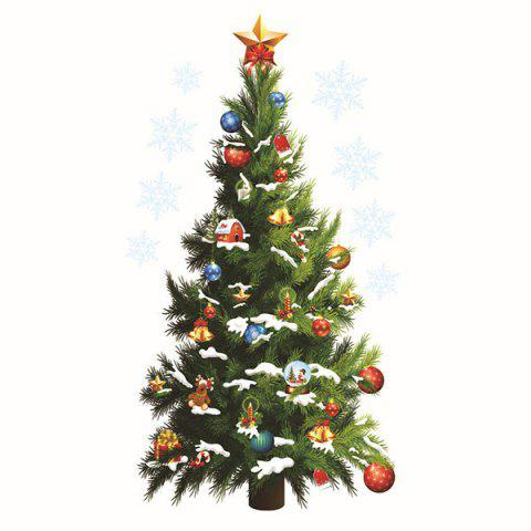 Discount Sweet Removeable Christmas Tree Pattern Wall Sticks Christmas Decoration - COLORMIX  Mobile