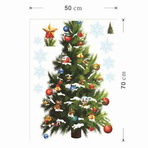 Outfits Sweet Removeable Christmas Tree Pattern Wall Sticks Christmas Decoration - COLORMIX  Mobile