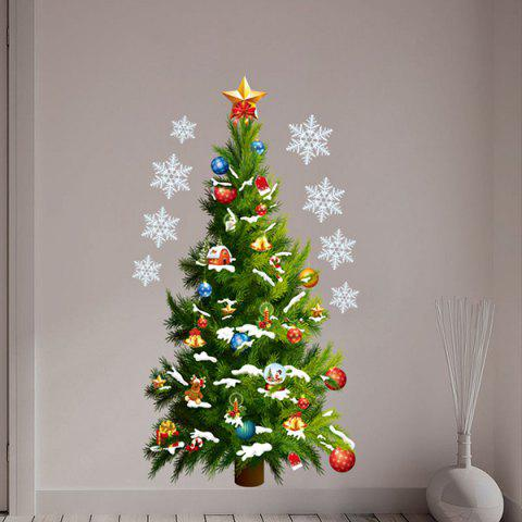 Online Sweet Removeable Christmas Tree Pattern Wall Sticks Christmas Decoration - COLORMIX  Mobile
