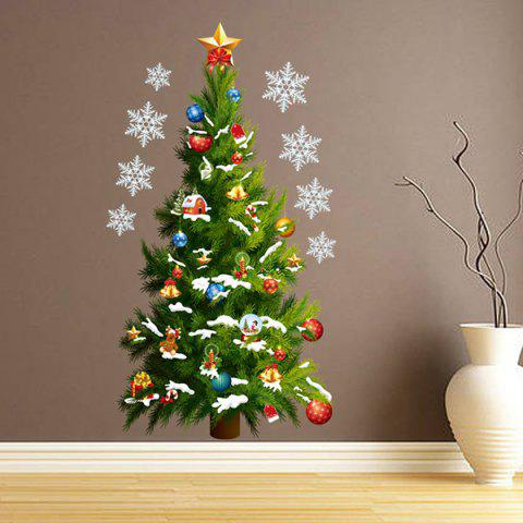 Sale Sweet Removeable Christmas Tree Pattern Wall Sticks Christmas Decoration - COLORMIX  Mobile