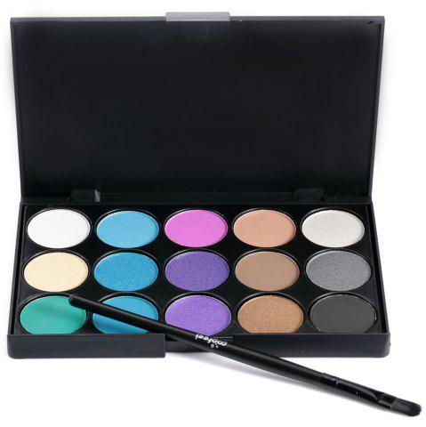 Shop 15 Colors Girl Makeup Natural Eye Shadow Palette with Brush 03#