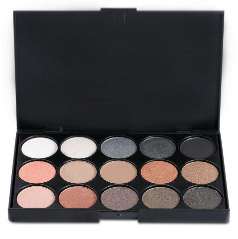 Best 15 Colors Girl Makeup Natural Eye Shadow Palette with Brush - BLACK 02#  Mobile